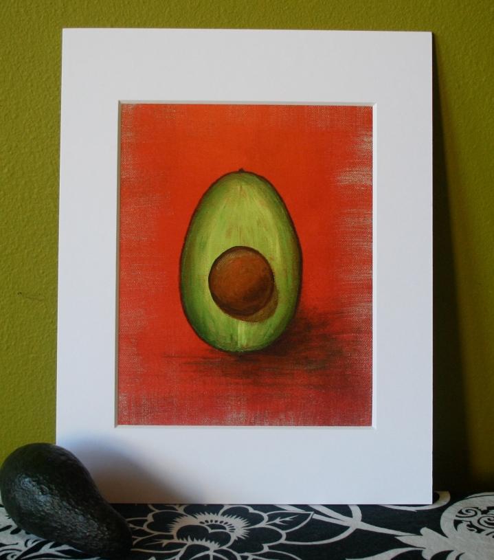 Catalina Garreton - Avocado painting